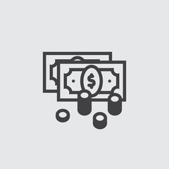 Money icon, dollar cash