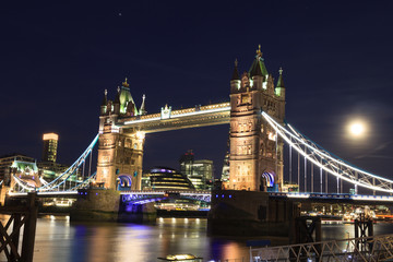 Printed kitchen splashbacks Brooklyn Bridge Tower Bridge at dusk ,London United Kingdom