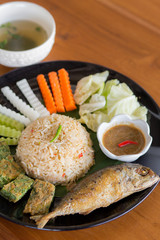 Fish curry rice VEGETABLES