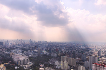 Bangkok cityscape. View of the city from the tallest building in