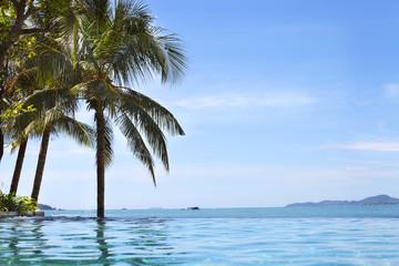North Pattaya beach and Coconut, Thailand