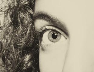 Beautiful insightful look eyes little girls