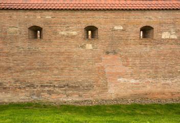 Old brick fortress wall