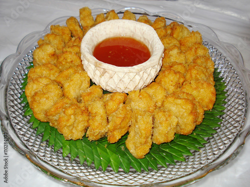 thai food - tod mun goong - deep fried shrimp cake