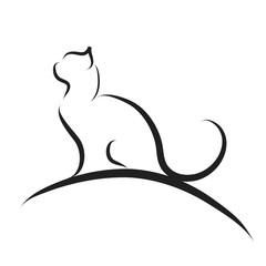 Vector illustration of cat logo.