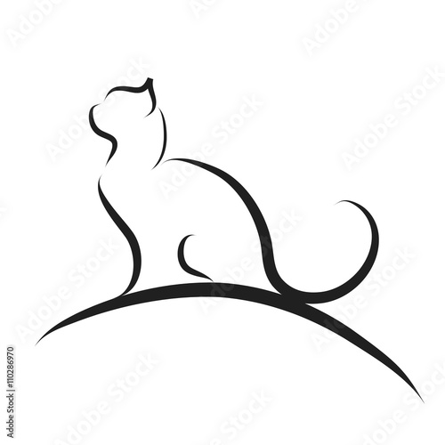 "vector illustration of cat logo."" stock image and royalty-free"