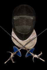 Fencing Foil Equipment Isolated on Black