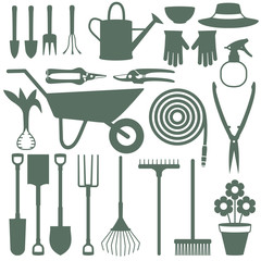 Gardening related vector icons 1