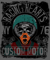 Skull T shirt Graphic Design Motorcycle Club..
