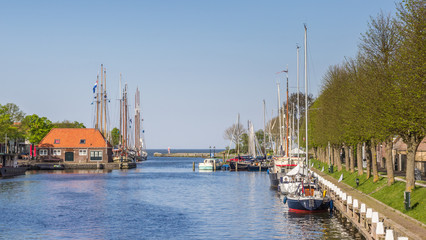 Harbor with sailing boats in Medemblik