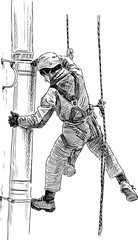 worker steeplejack