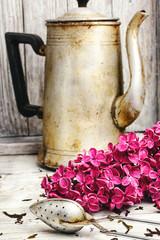 Fototapete - Custard tea and lilac