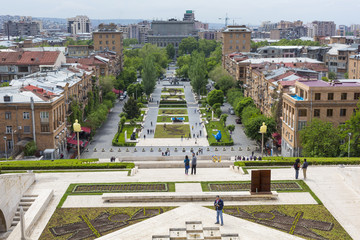 View from Cascade YEREVAN, ARMENIA