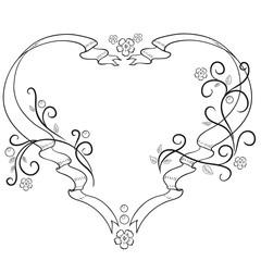 Frame heart for lovers.