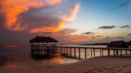 Sonnenuntergang auf Cayo Santa Maria, Kuba