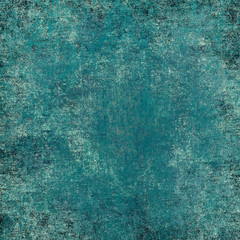 blue(turquoise) grunge background. Texture For Your Design.