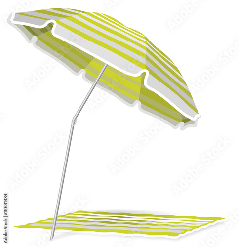 parasol vacances plage vert 2 stock image and royalty free vector files on pic. Black Bedroom Furniture Sets. Home Design Ideas