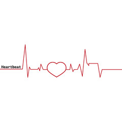 Heartbeat icon. Scale heartbeat