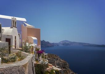 Santorini view and architecture