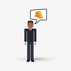 Money design. Financial item. Isolated illustration