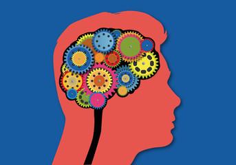 Cerveau - Engrenage - Réflexion