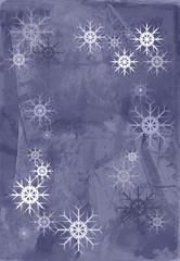 Fototapete - Fond Texture Abstrait Violet Mauve Gris - Etoiles Flocons de Neige - Illustration