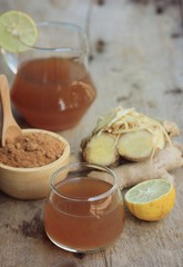 Ginger juice with sugar
