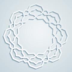 Geometric arabic pattern circle ornament