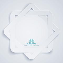 Ramadan Kareem islamic background design octagonal paper cutting style
