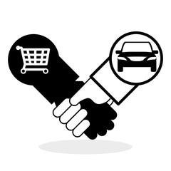 Car sale design. sale concept. white background
