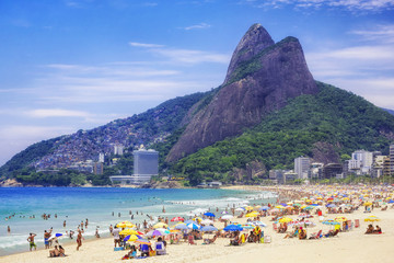 Ipanema Beach in Rio de Janeiro, Brazil. Wall mural