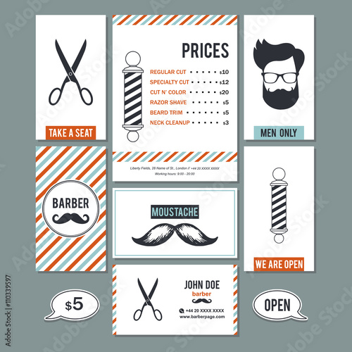 Hair salon barber shop vintage business cards and services prices hair salon barber shop vintage business cards and services prices design templates fbccfo Choice Image