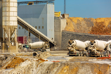 Ready mix concrete production plant
