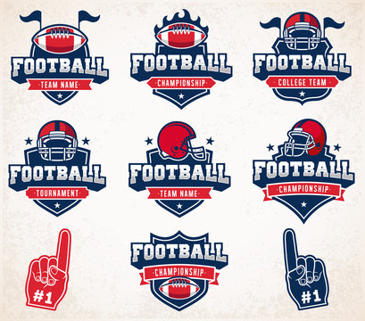 Vector Football logos and insignias