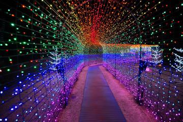 Multi-colour light tunnel