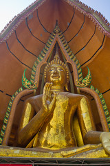 Buddha statue on top of a mountain