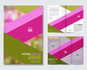 Vector of book cover,brochure,flyer ,annual report template