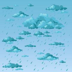 Rainy day. Clouds and rain.