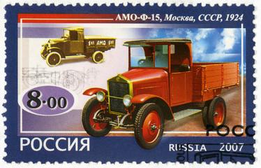 RUSSIA - 2007: shows AMO-F15 truck, 1924