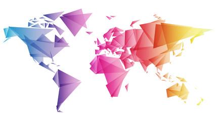 świat trójkąty wektor