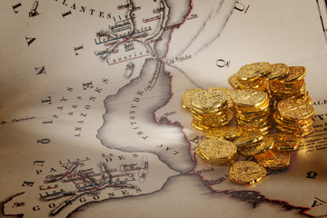 Doubloons and Treasure Map