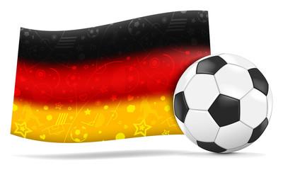 deutsche gemusterte Flagge mit Fußball