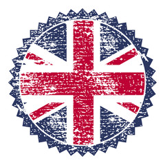 Great Britain grunge stamp with union flag. Vector illustration