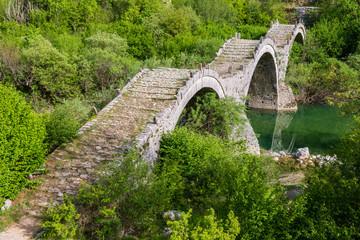 Old stone bridge of Plakidas, Kipoi (Greece)