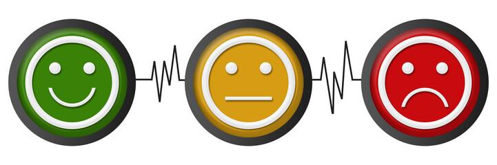 Smile Neutral Sad Faces Heartbeats