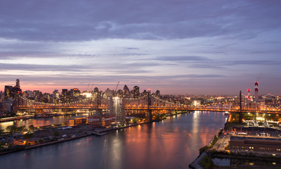East River at sunset