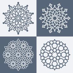Arabic elegant geometric pattern