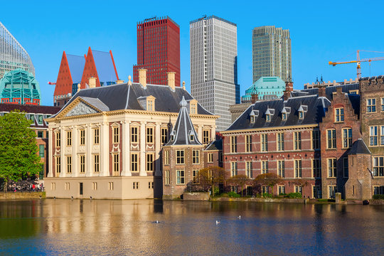Mauritshuis at the Hofvijver in The Hague, Netherlands