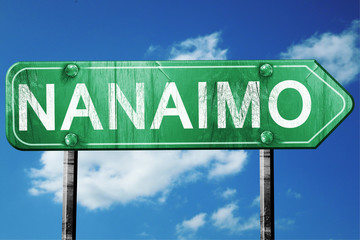 Nanaimo, 3D rendering, a vintage green direction sign