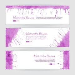 Set of watercolor banners